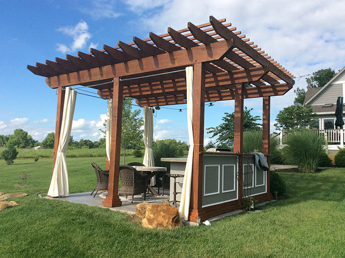 Pergola Staining Project